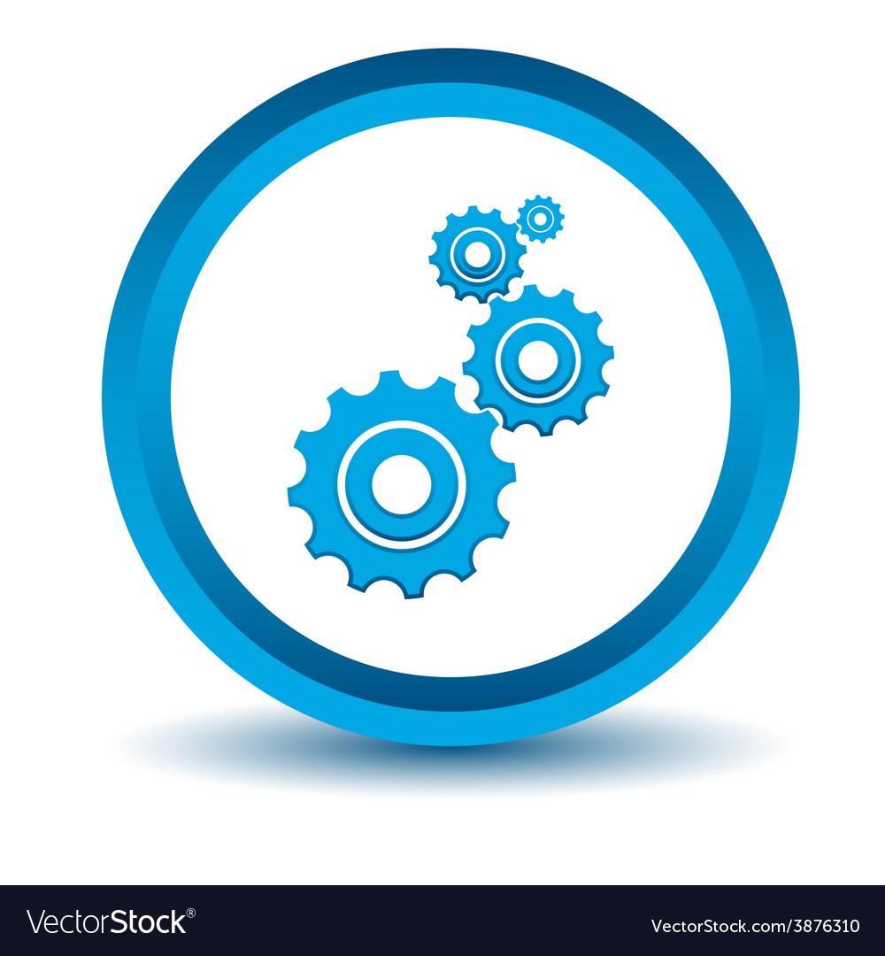 Blue mechanism icon vector