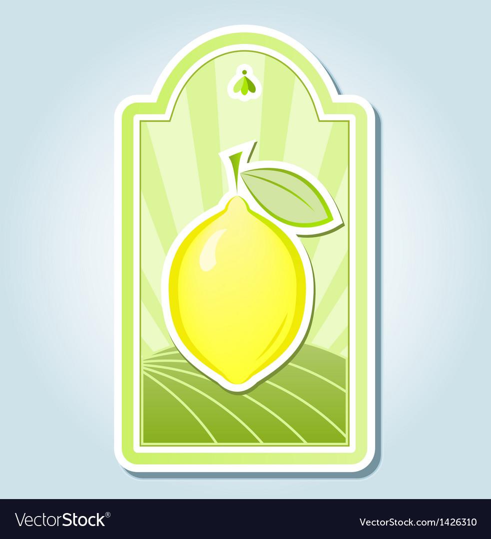 Lemon tag design vector