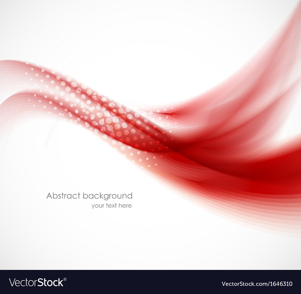 Wavy red background vector