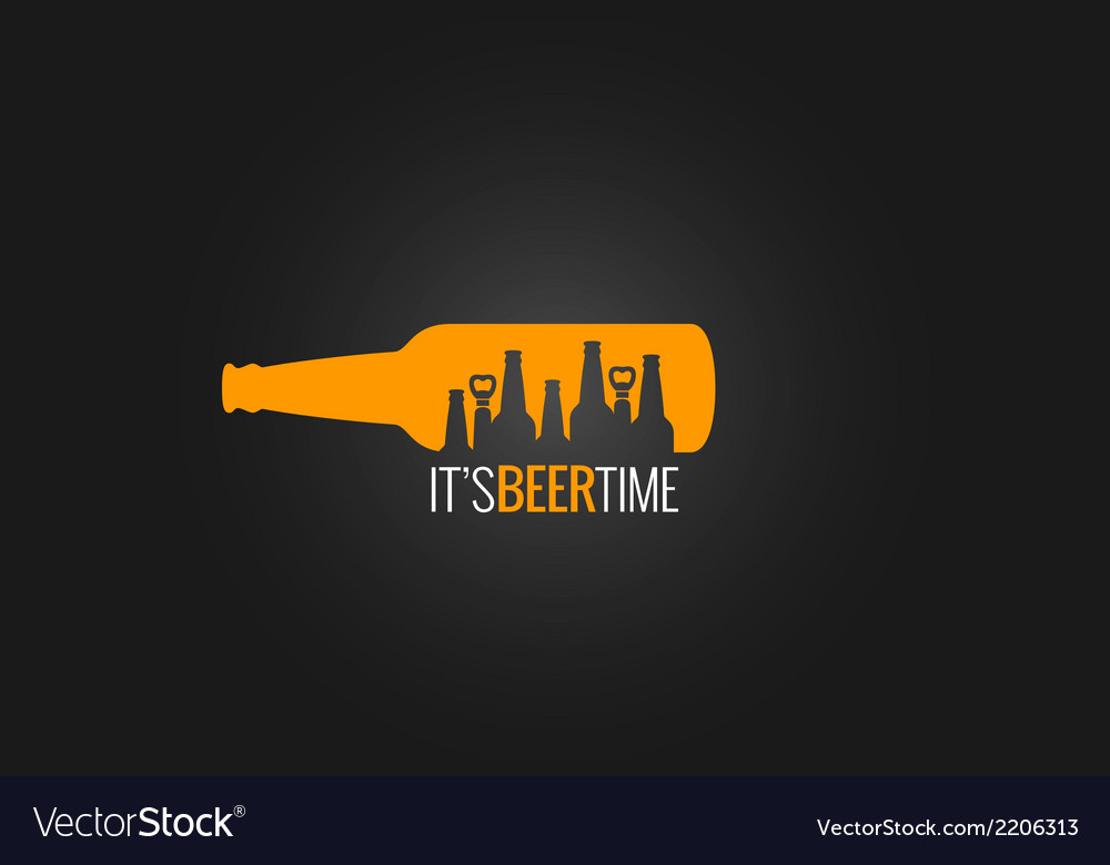 Beer bottle concept design background vector