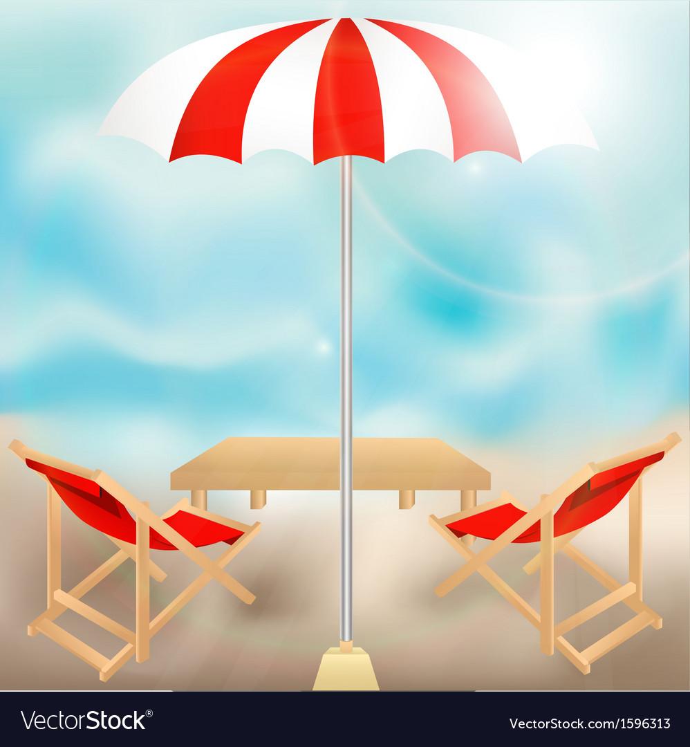 Seat in summer vector