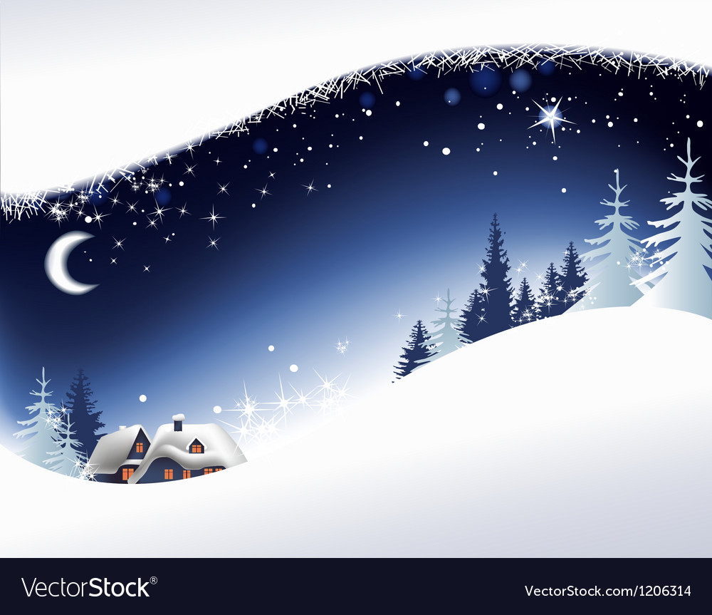 Christmas landscape background vector