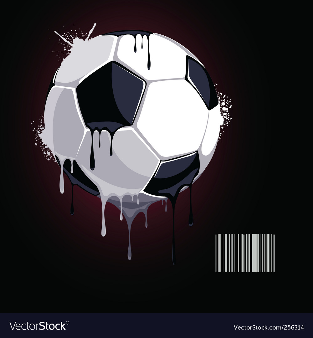 From the soccer ball dripping vector