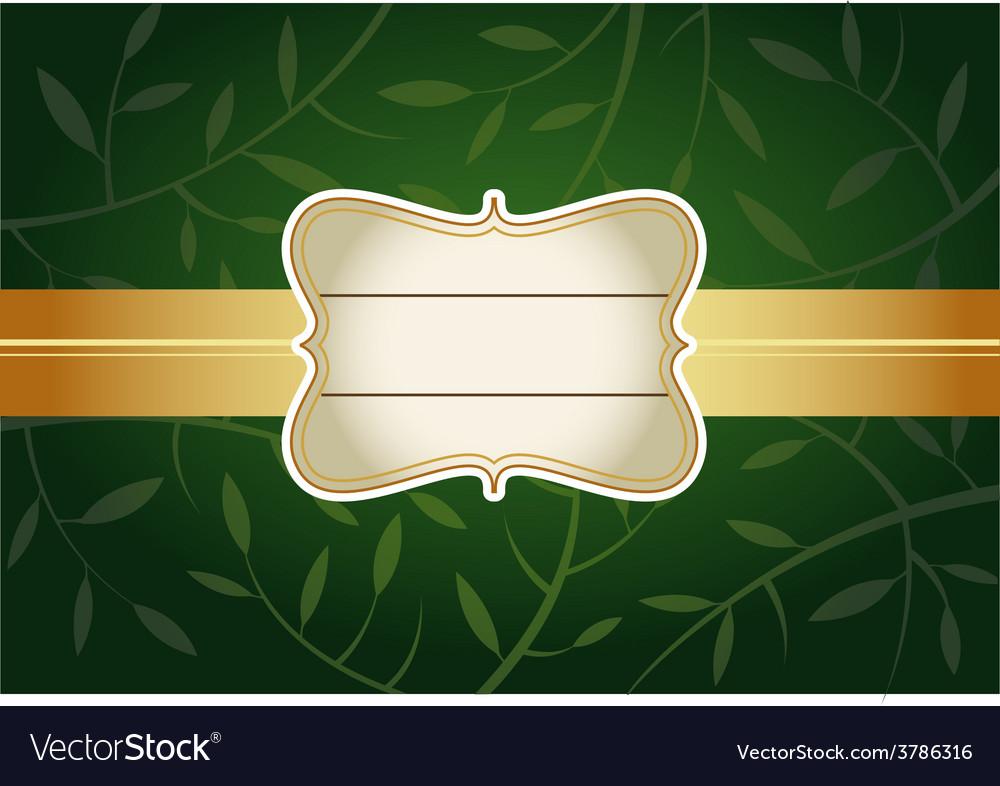 Green greeting card vector
