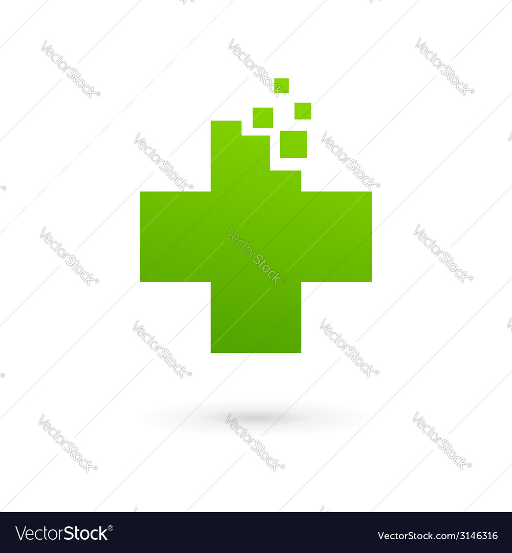 Medical logo icon design template with cross and vector