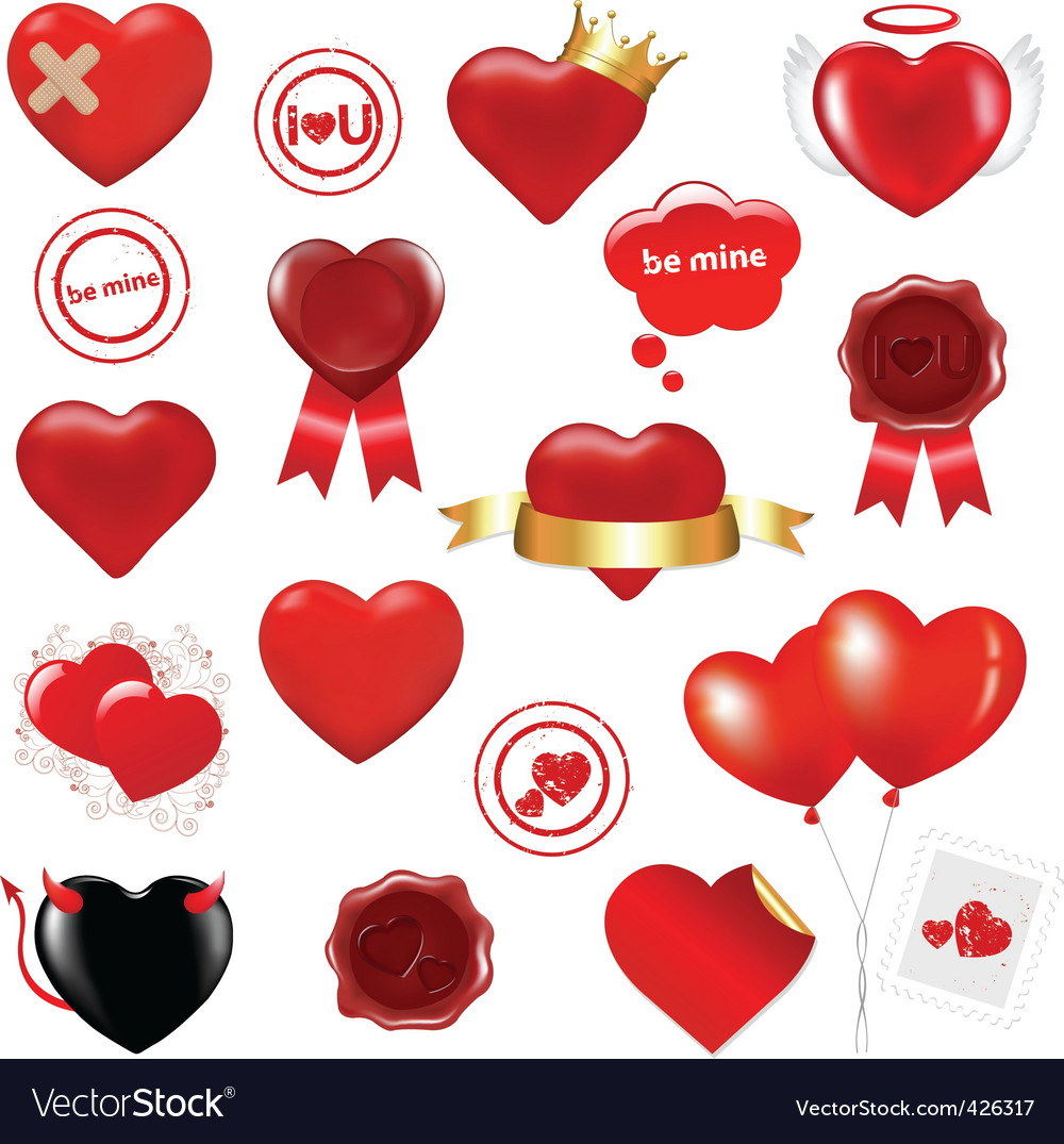 Love design elements vector