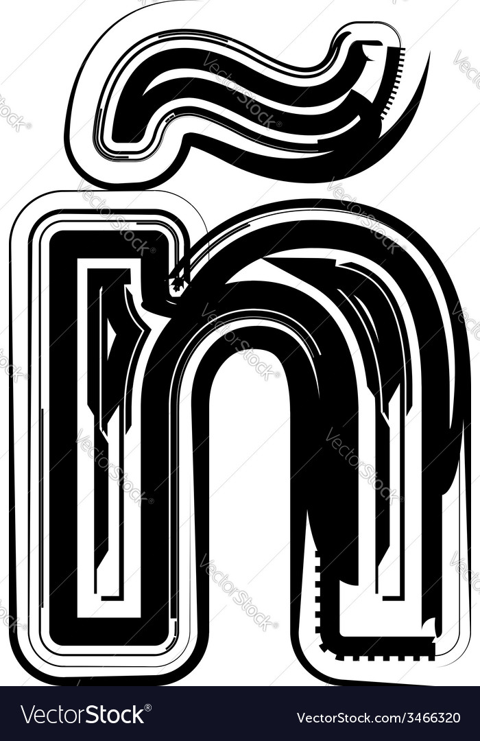 Abstract letter vector