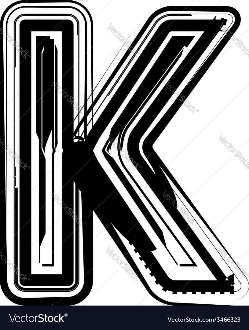 Abstract letter k vector