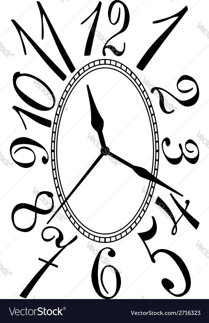 Retro clock dial vector
