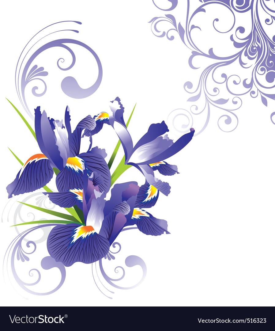 Romantic floral illustration v vector