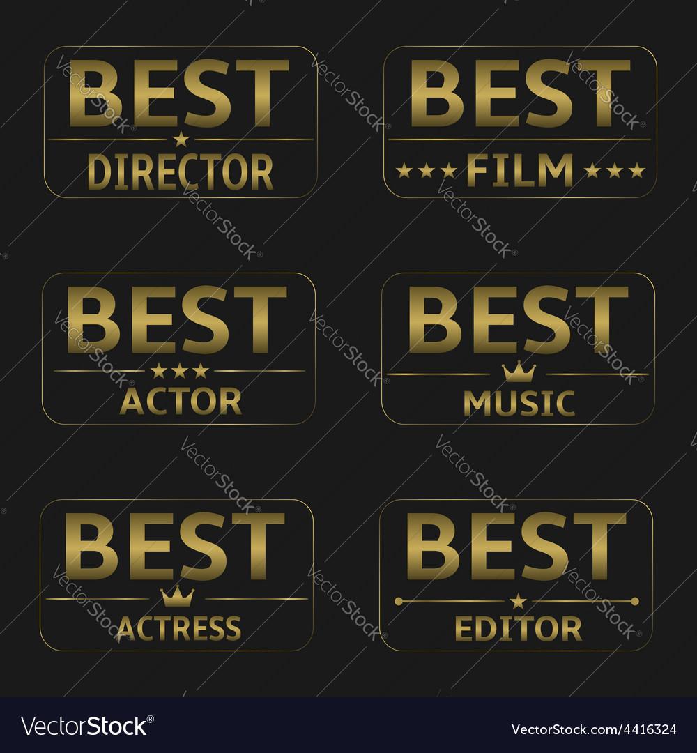 Best film awards vector