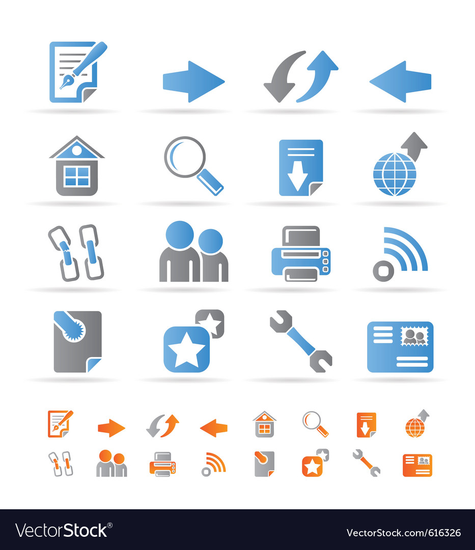 Website navigation and computer icons vector