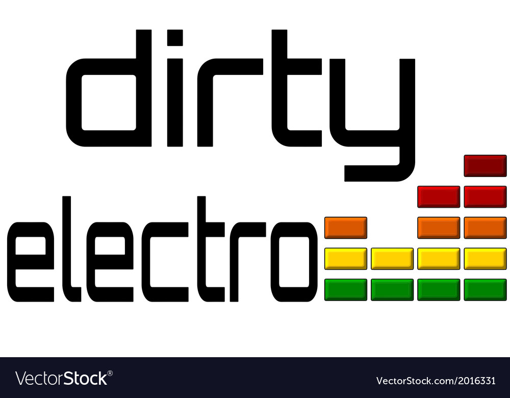 Dirty electro dj equalizer music volume on alpha vector