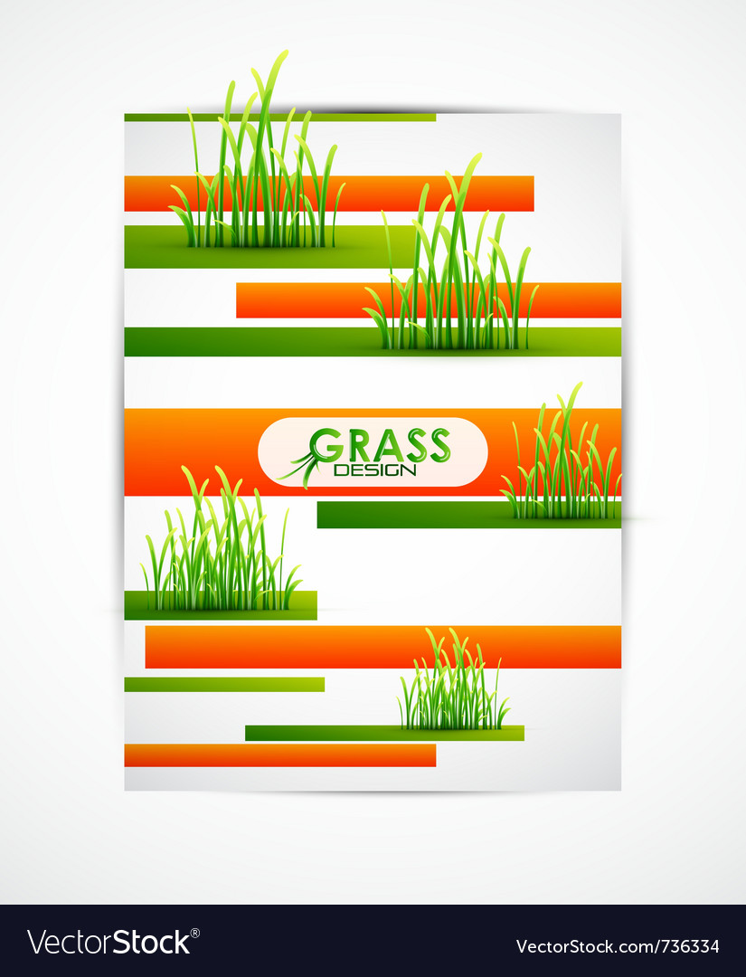 Abstract grass on stripes vector