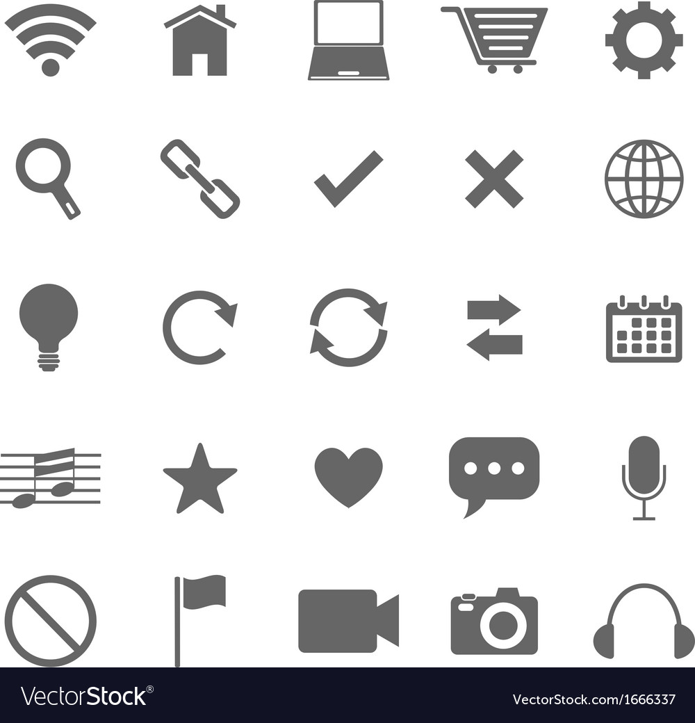 Web icons on white background vector