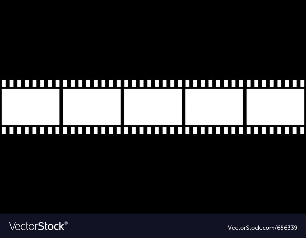 Film strip isolated vector