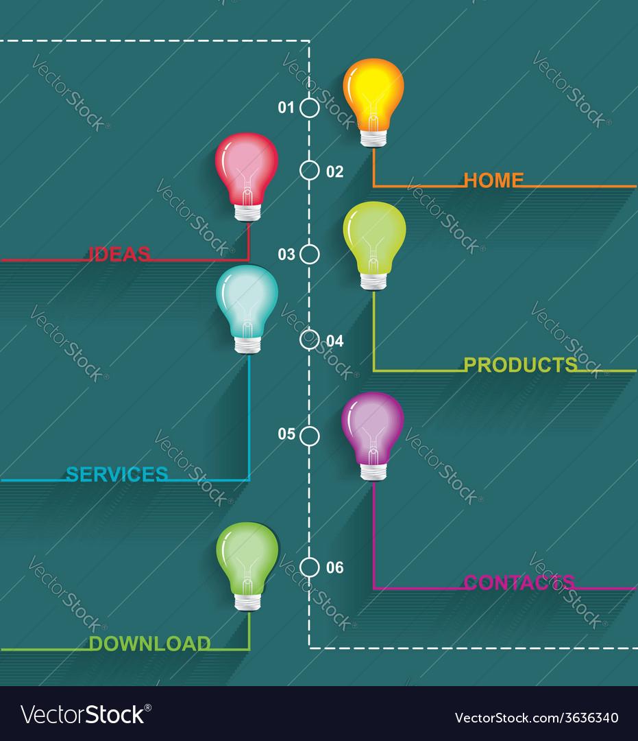 Inforgraphic design vector