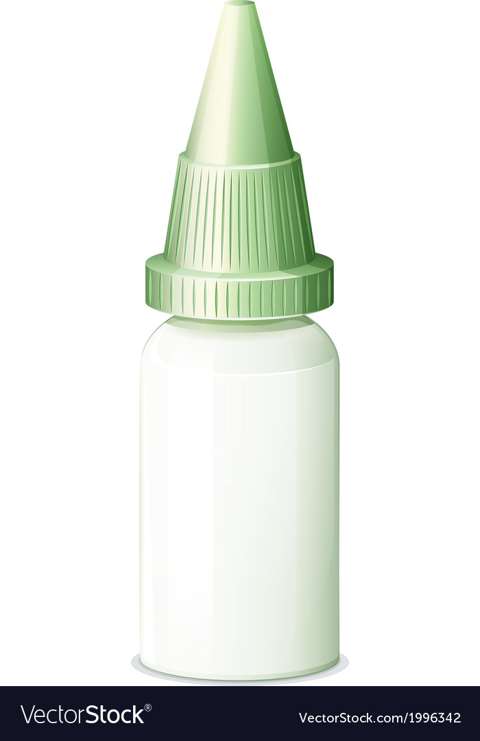 A medicine bottle with a cone-shaped lid vector