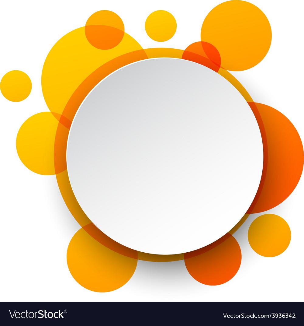 Paper white round speech bubbles vector