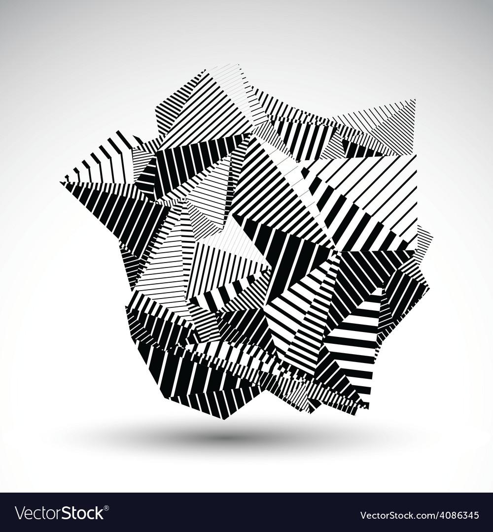Decorative complicated unusual eps8 figure vector