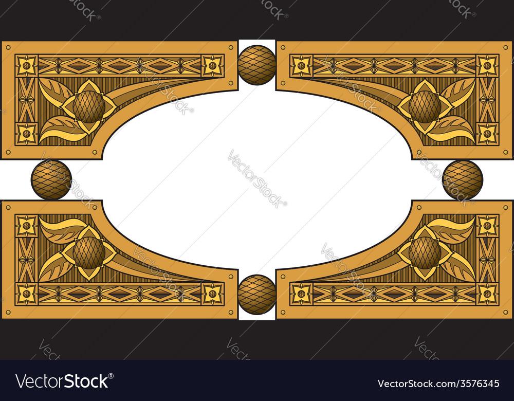 Elliptic wooden frame vector