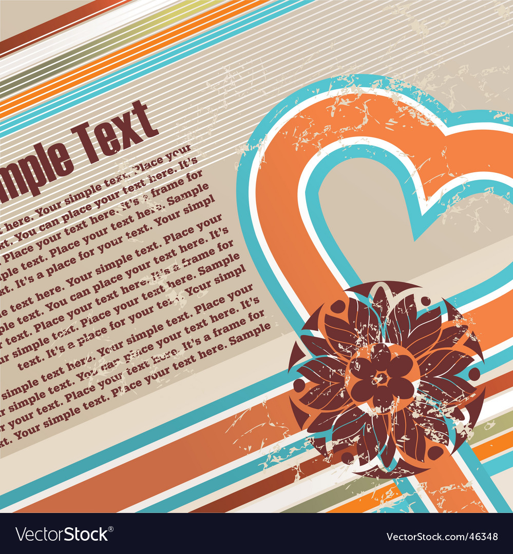 Valentines retro grunge background vector