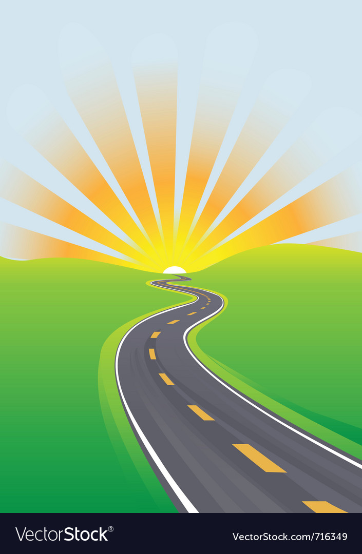 Curving highway vector