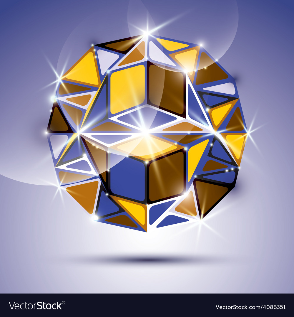 3d shiny mirror ball isolated on violet background vector