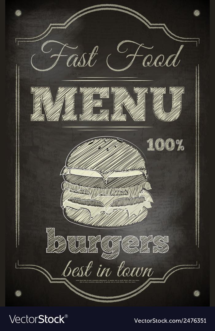 Burger menu vector