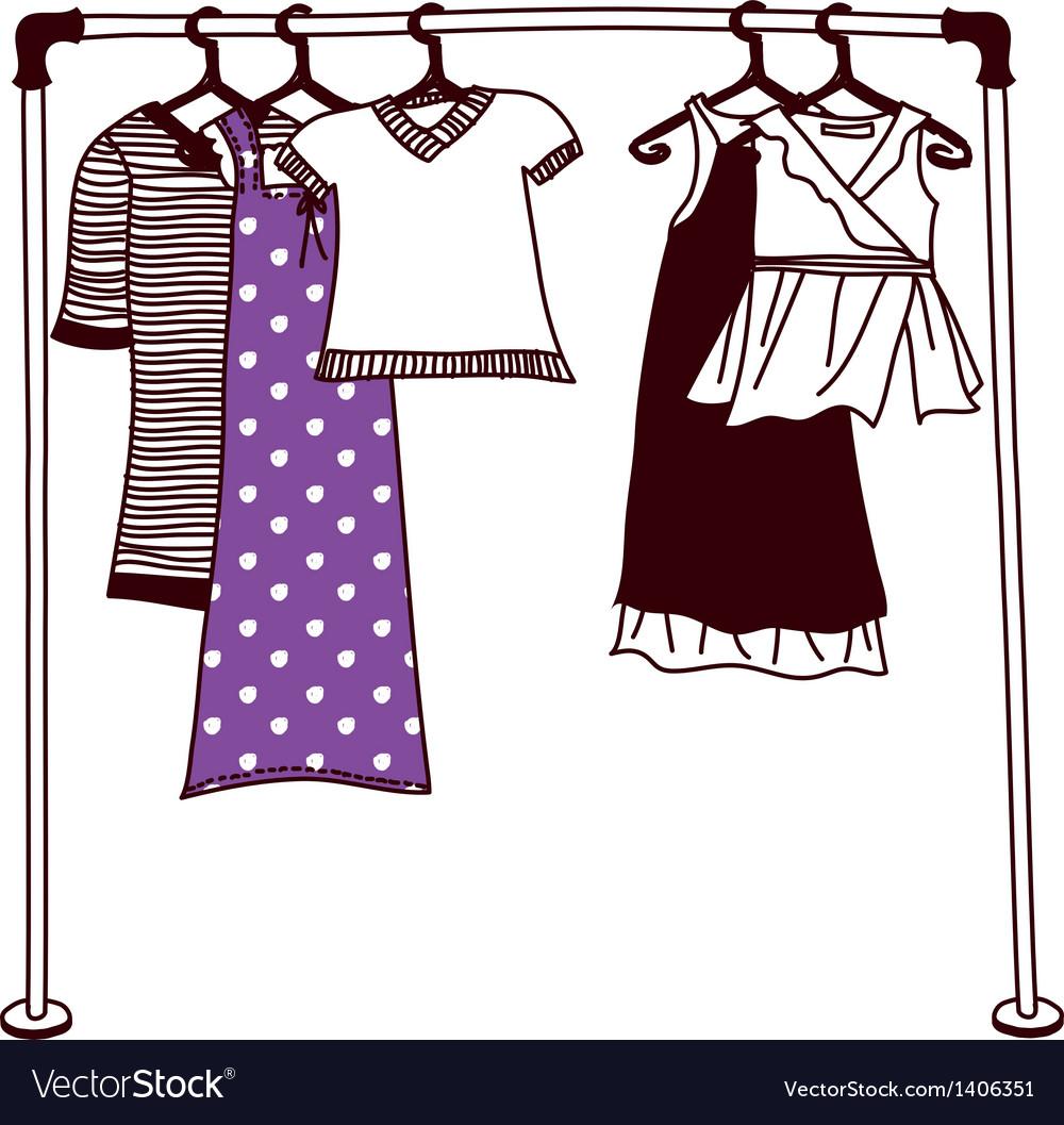 Clothes on a hanger vector