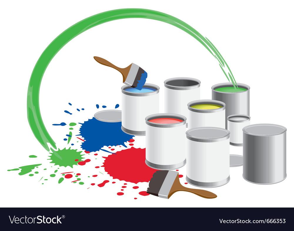 Paint pots vector