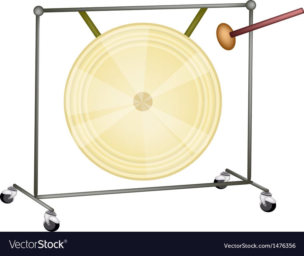 Musical gong vector