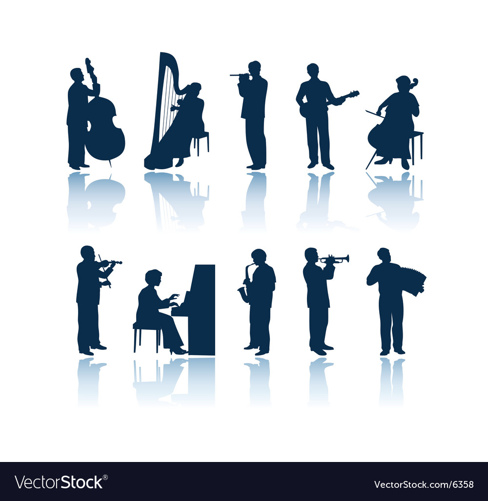 Musician silhouettes vector