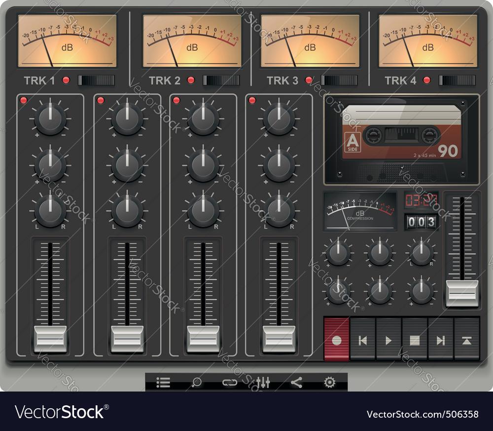 Portable recording studio vector