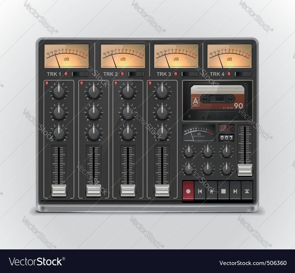 Portable recording studio icon vector