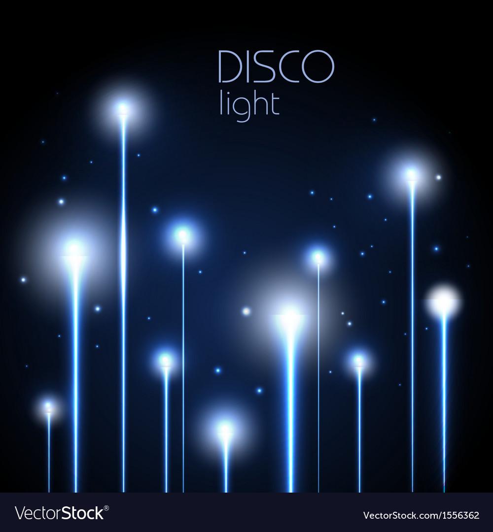 Abstract neon disco background vector