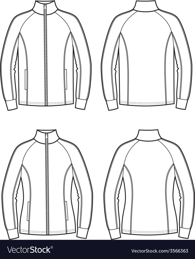 Sport jacket vector