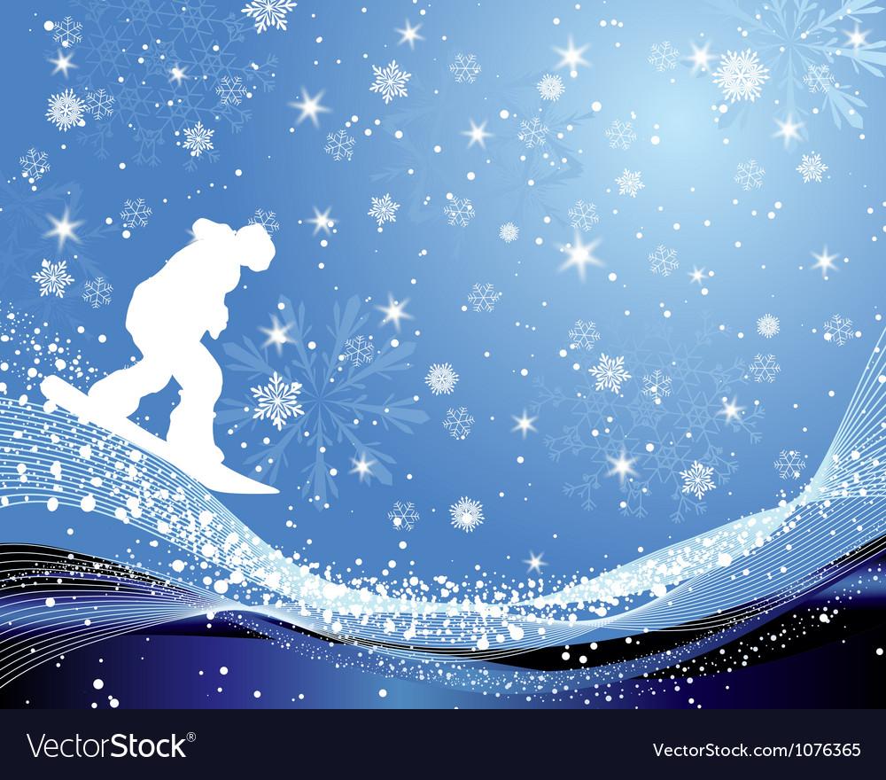Snowboard background vector