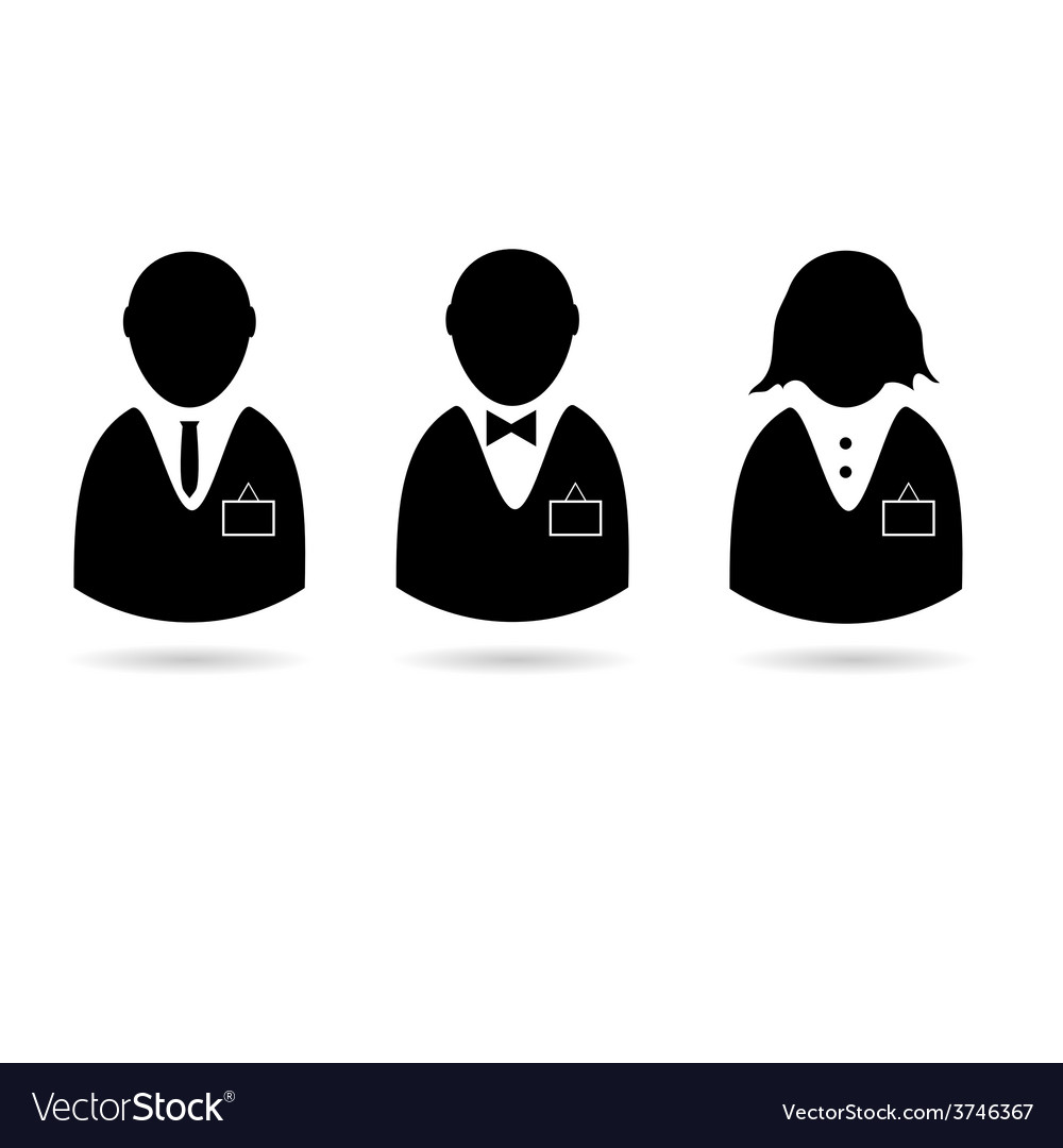 Icon of people with identification card silhouette vector