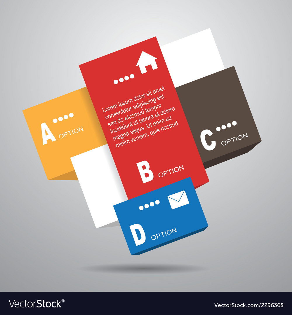 Square infographic template vector