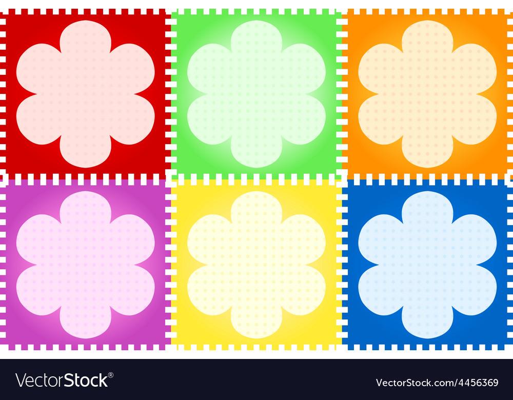 Floral quilt vector