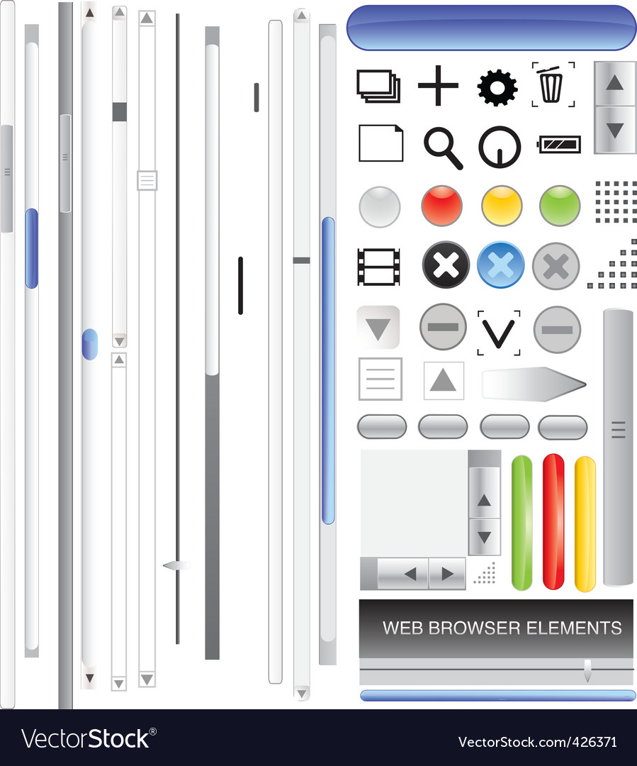 Browser bars vector