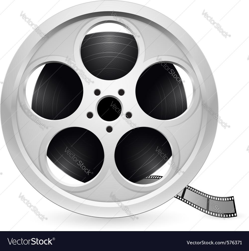 Reel of film vector