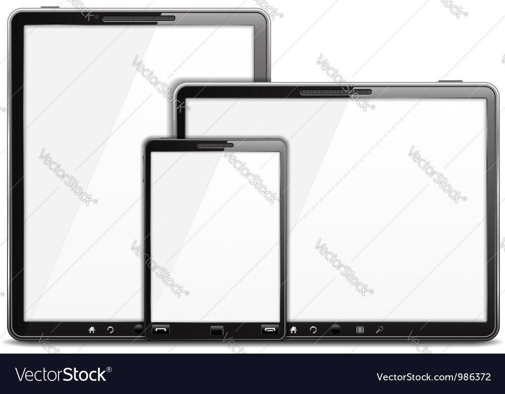 Tablet computer and smart phone vector