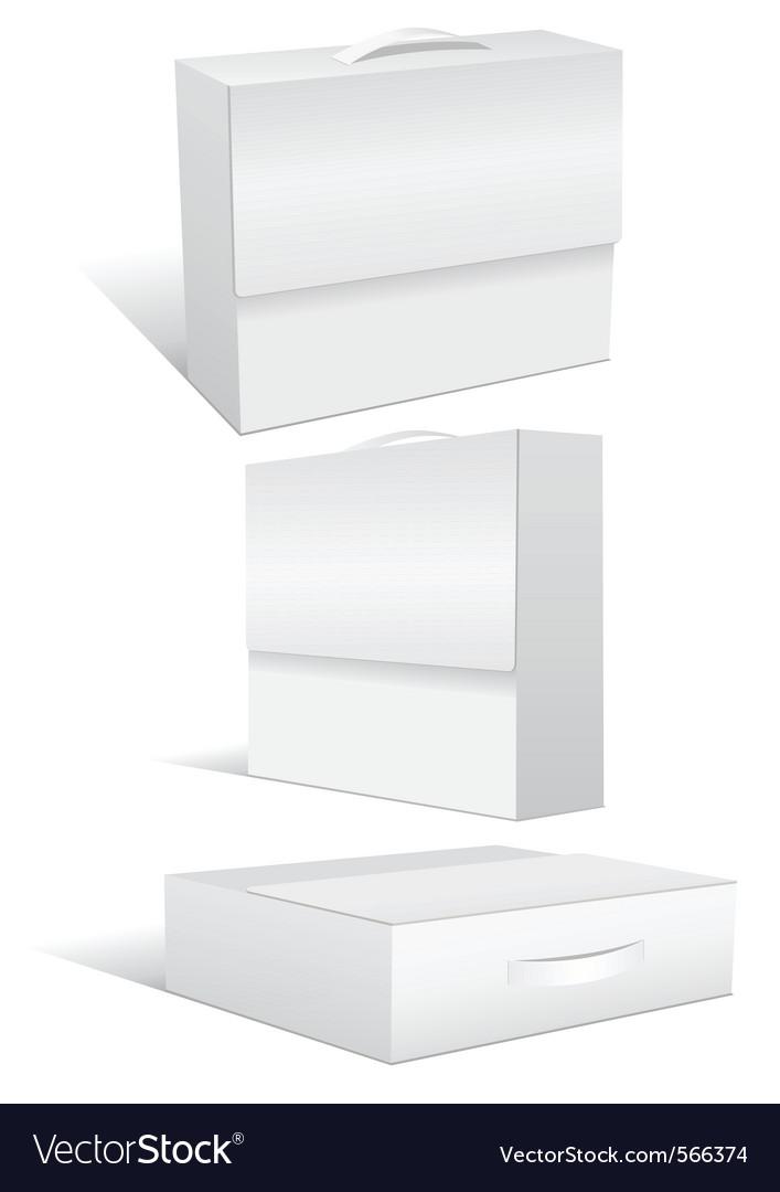 Blank case or box vector