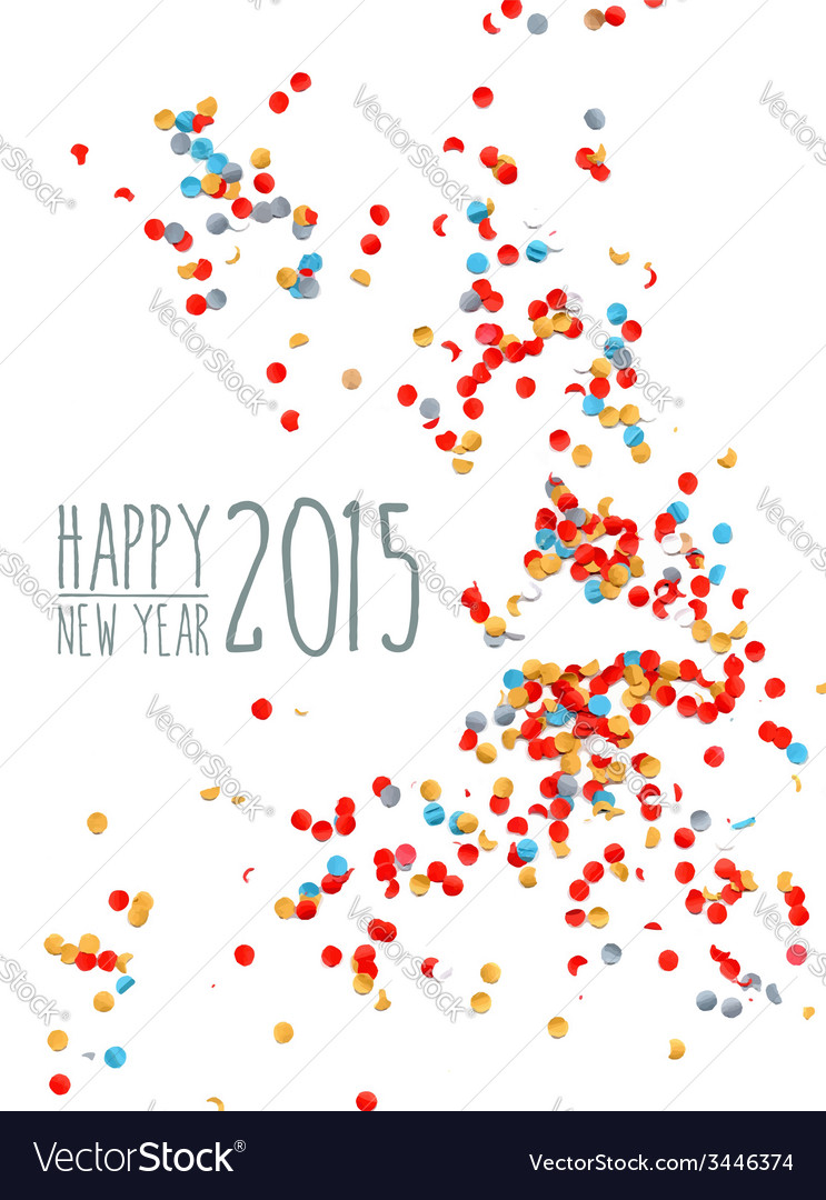 Happy new year 2015 confetti background vector