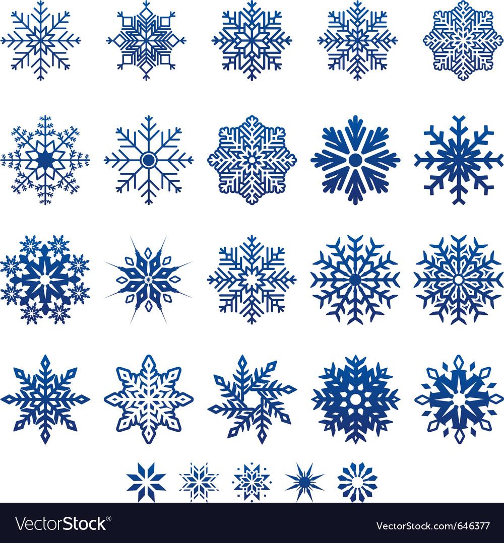 Snow flake icons vector