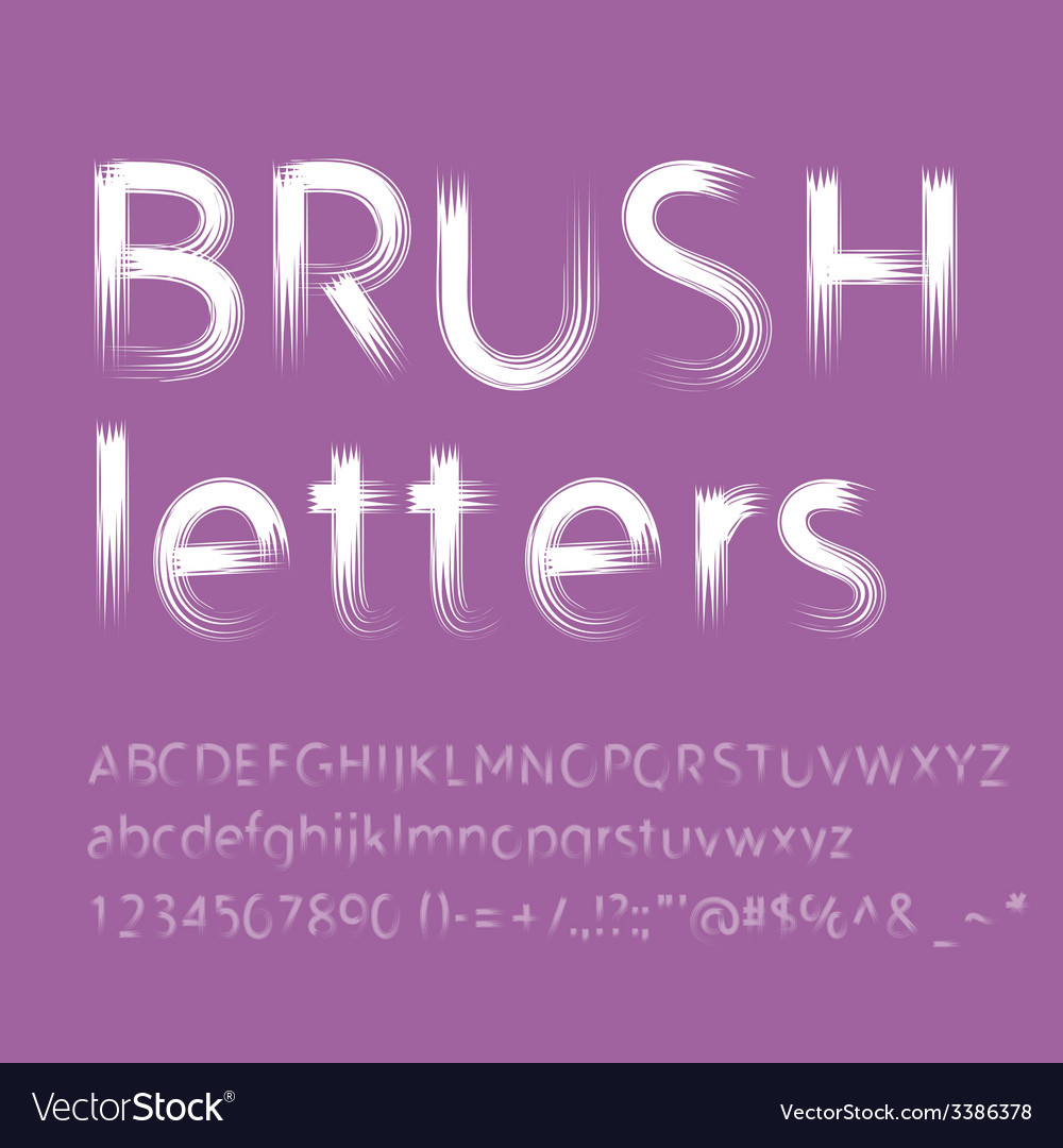 Letters painted with brush vector