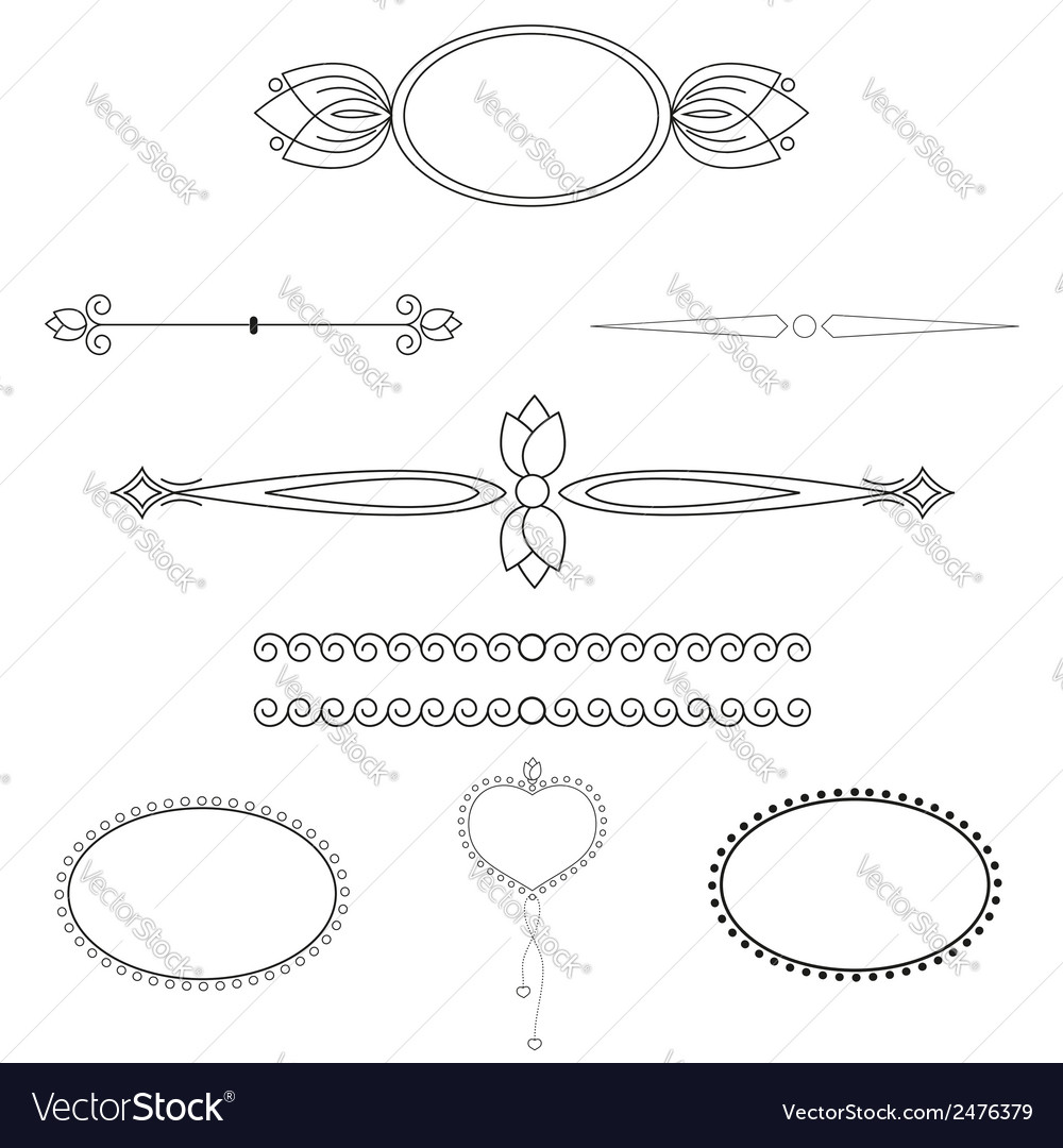 Set of patterns for registration vector