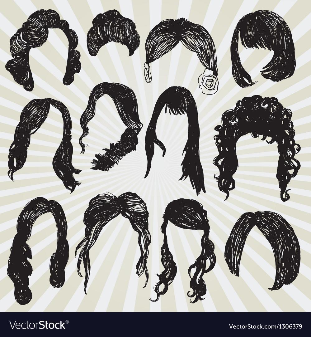 Wigs vector
